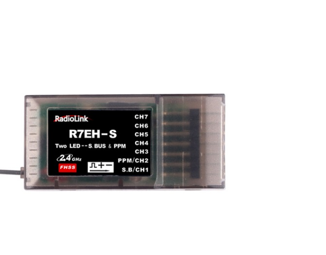 2.4G 7CH RadioLink R7EH FHSS Receiver for T4EU T4EU-6 T6EHP-E T6EHP-S T7F Transmitter