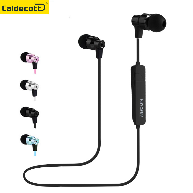 Fashion Wireless Bluetooth Headphone Running In ear earphone Metal Headset Sport earbud handsfree with mic for mobile phone bluetooth earphone wireless music headphone car kit handsfree headset phone earbud fone de ouvido with mic remax rb t9