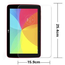 Excessive clear Anti-shatter Tempered Glass movie for LG G PAD 10.1 LG-V700 pill entrance Display protecting movie HD liquid crystal display protector movies