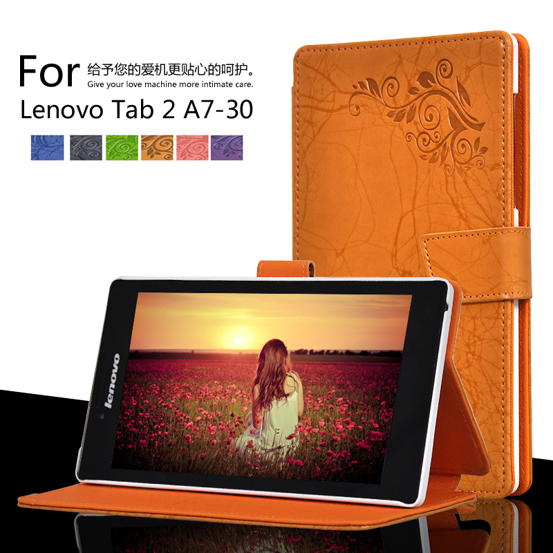 For Lenovo Tab 2 A7-30/A7-30TC/A7-30HC Printing Pattern Stand Cover Protective Print Flower Leather Case
