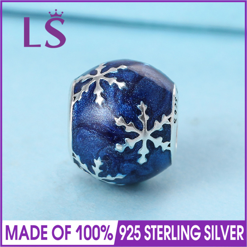 LS 2017 Christmas Collection New In 925 Silver Wintry Delight Charm Beads Fit Original Bracelets Pulseira Encantos.Fine Jewlery