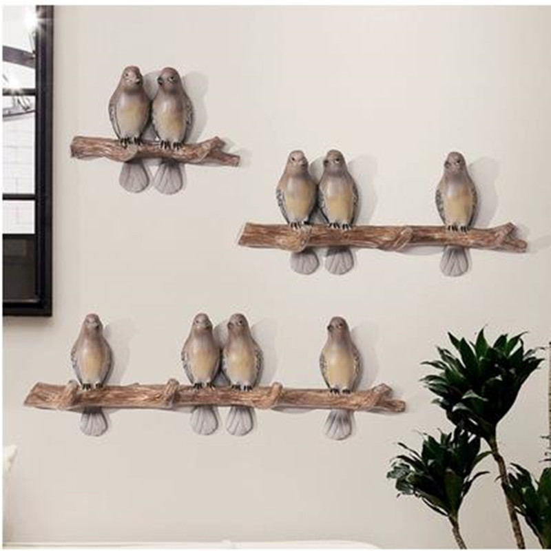 American country retro creative bird wall hanging, living room bedroom shop wall decoration crafts