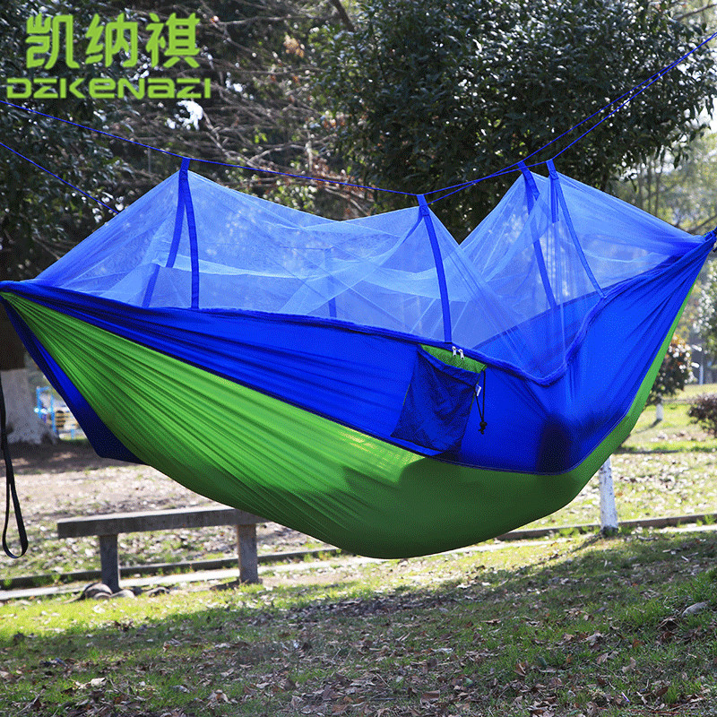 2.6 x 1.4M / 2.6 x 1.3M / 2.6 x 1.2M High Strength Camping 210T Parachute Hammock Hanging Bed With small mesh of Mosquito Net2.6 x 1.4M / 2.6 x 1.3M / 2.6 x 1.2M High Strength Camping 210T Parachute Hammock Hanging Bed With small mesh of Mosquito Net