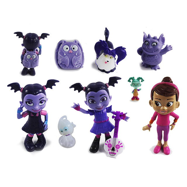 9pcs Set Vampirina Toys Nendoroid Pvc Junior Vampirina The