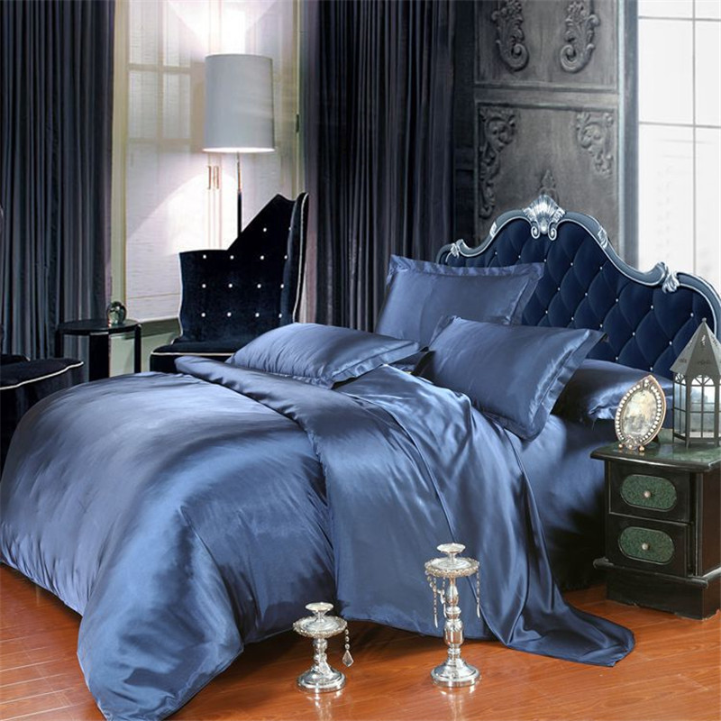 Summer Cool Imitated Silk Bedding set home textile AB side bed linen set soild bedclothes soft silky bedding twin Queen&King