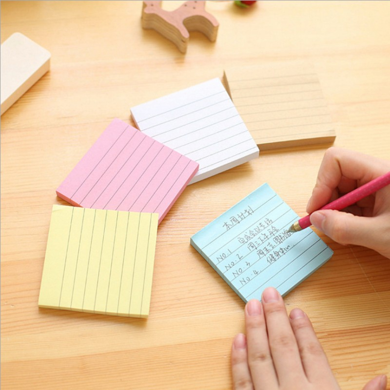 Kraft Paper Line Planner Memo Pad Sticky Note Post It Diary Stickers Scrapbooking Sticky Note Post It Office School Supplies
