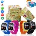 GPS Q90 Pantalla Táctil WIFI Niños de Posicionamiento Smartwatch Inteligente Muñeca reloj Localizador PK Q50 Q60 Q80 de Seguros para Niños Anti-Pérdida # b5