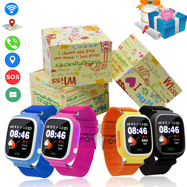 GPS Q90 Smartwatch Touch Screen WIFI Positioning Children Smart Wrist Watch Locator PK Q50 Q60 Q80 for Kid Safe Anti-Lost #b5 fishbone fispecimens in clear lucite block educational instrument middle school biology school teaching aids