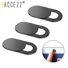 !ACCEZZ 6Pcs WebCam Cover Shutter Magnet Slider Plastic For iPhone Web Laptop PC iPad Tablet Camera Mobile Phone Privacy Sticker(China)