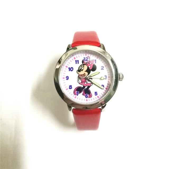 Drop shipping Cartoon children watches Beautiful girls Minnie mouse watch studen