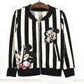 Spring new striped zipper jacket Spring&Autumn children hoodies kids girls sweatshirt High-Quality