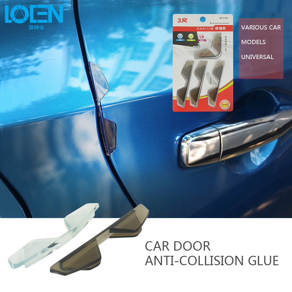 4Pcs/Lot Car Styling PVC Car Door Edge Anti Collision Sticker Door Anti-Rub Strips Car D ...