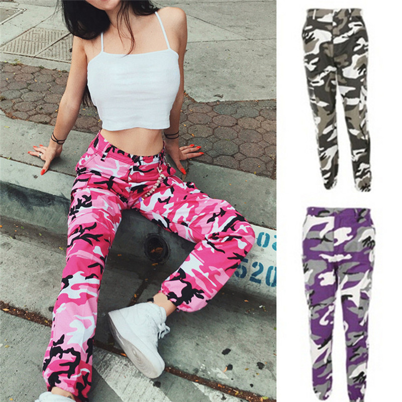 HTB17zV.ba285uJjSZFkq6zHopXaM - FREE SHIPPING Camouflage Pant High Waist Hiphop Red Pink Purple Orange Grey JKP339