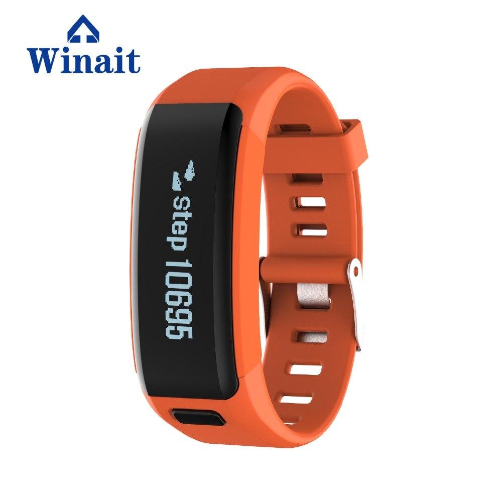 Winait bracelet intelligent étanche F1 avec batterie intégrée 230 mAh écran OLED de 0.91 pouces