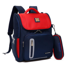 2018 Orthopedic Backpack Boy Waterproof School Bags Zipper Kid Bag Cute Children For Primary Set