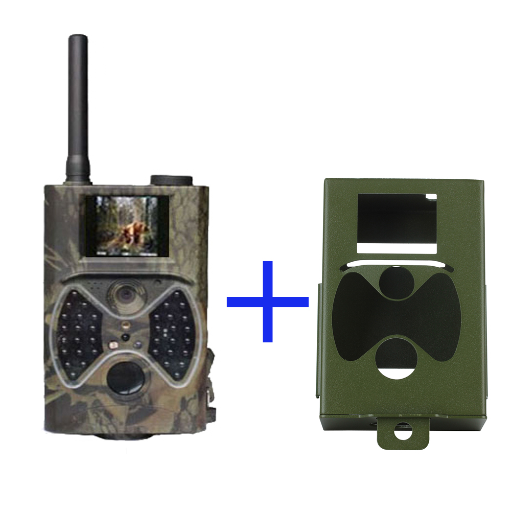 Hunting Scounting Camera New HD GPRS/MMS Digital Infrared Trail Camera 2.0' LCD 8.0Megapixels IR Hunting with Protect Steel Case 12mp trail camera gsm mms gprs sms scouting infrared wildlife hunting camera hd digital infrared hunting camera