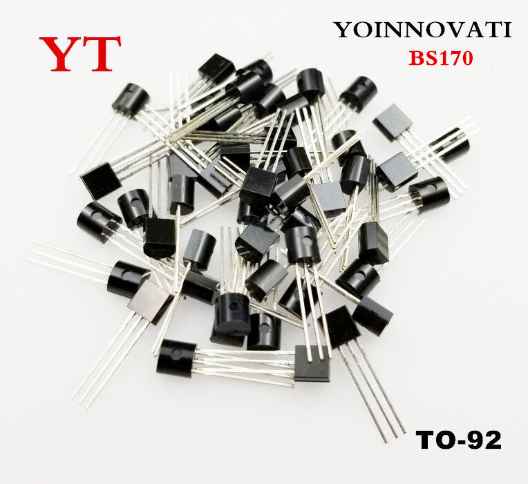 Free shipping 1000pcs/lot BS170 TO 92 FETs MOSFET N CH 60V 500MA Best quality-in Integrated Circuits from Electronic Components & Supplies    1