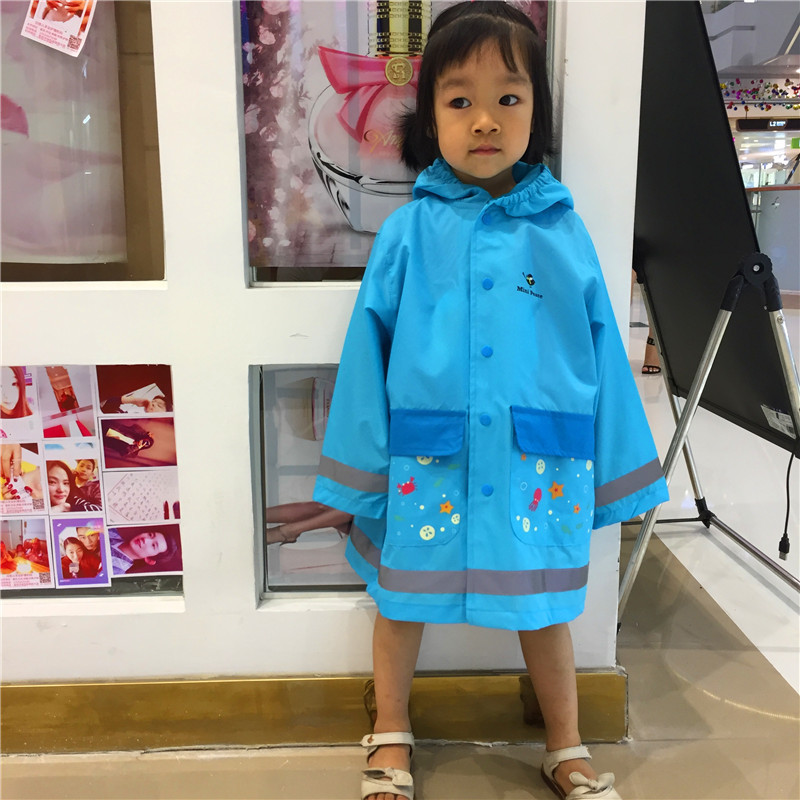 Reflective Children Rainwear Kidergarten Students Raincoat Boys And Girls Rain Gear Waterpoof Eco-friendly Baby Rainwear