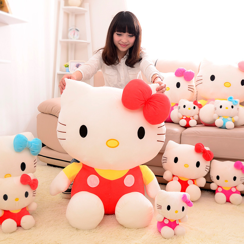 New hello KT cat plush toy doll birthday gift sitting height 25cm hello kitty plush toys hello kitty toys doll for childre стоимость