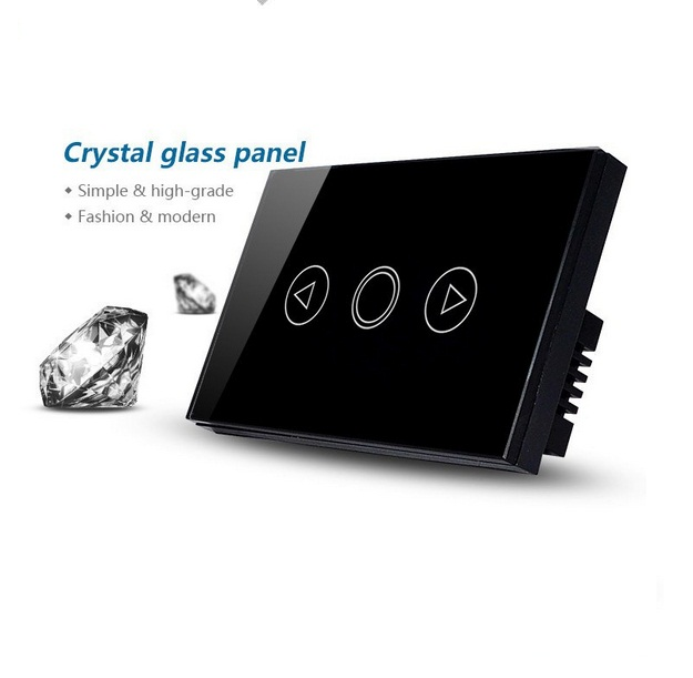 Black Crystal Touch Screen Sensitive Glass Panel Light Dimmer Switch 1 Gang 1 Way AC110-240V for US / Australia Type smart home us au wall touch switch white crystal glass panel 1 gang 1 way power light wall touch switch used for led waterproof