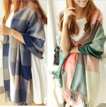 New Winter Women Lady Warm Tartan Check Shawl Scarf Wrap Stole Plaid Pashmina