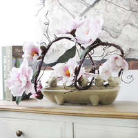 Artificial Magnolia latex orchid flower cane fake flower branches wedding flower string big magnolia flowers Wedding Decoration