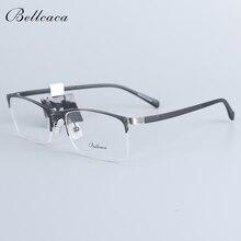 Bellcaca Spectacle Frame Men Eyeglasses Computer Myopia Optical Prescription Eye Clear Lens Glasses For Male Eyewear 30028