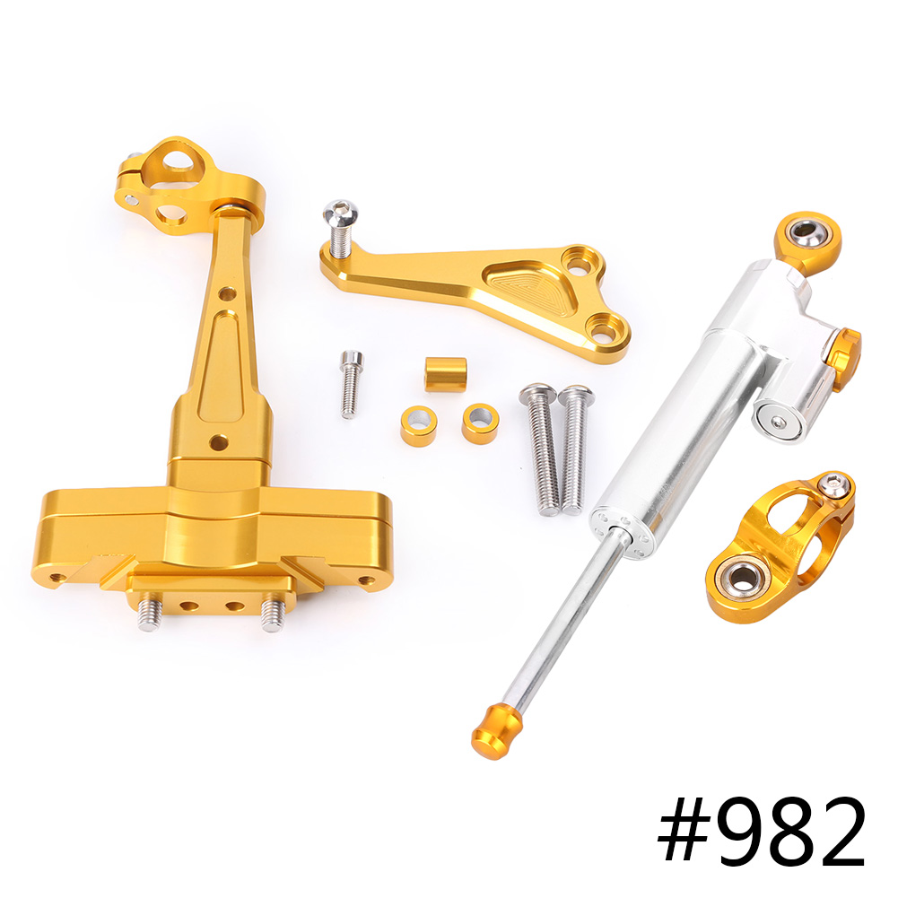 For Honda CB650F Steering Damper Stabilizer w Bracket Set Saftety Control Anodized Aluminum 2014 2016 Motorcycle