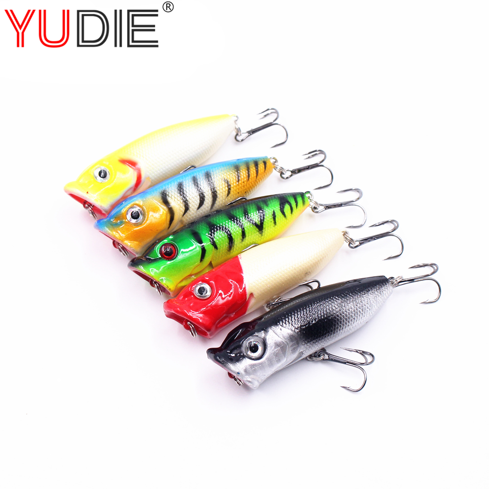 1pcs 7cm/11.6g 3D Eyes Popper Lure Hard Baits Top Water Lure Sea Laker Fishing Tools Hooks for Pike Bass Wobblers Spinner 1pcs fishing lures lure artificial bait peche tackle wobblers for pike fly 6 hooks 3d eyes fake baits minnow 7cm 8g sea bass