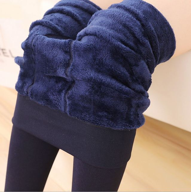 New 2016 Winter Women's Plus Cashmere Leggings Super Elastic Casual Slim Warm Leggings High-quality Velvet Knitted Leggings