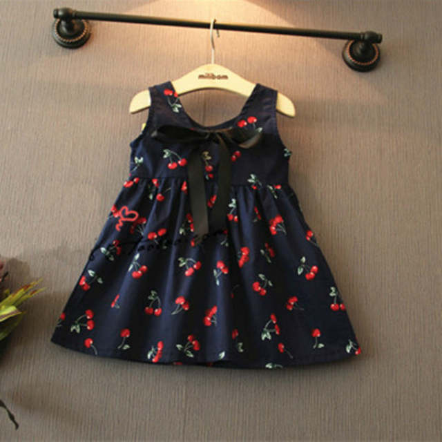 4714a89a804 Online Shop Summer Baby Girl Dress New Baby Girls Western Style Cherry  Stamp Cotton Dress Vestidos Infantil Carters Baby Girl Clothes