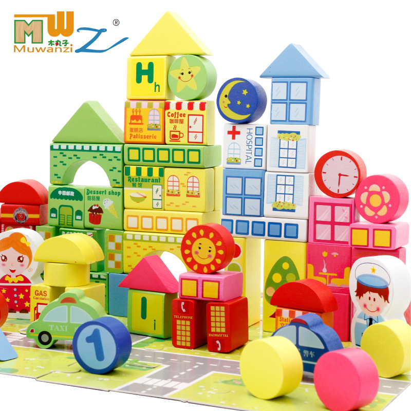 Infant Shining  Building Blocks to Study the Urban Traffic 160Pcs Wooden Blocks Educational Toys For More Than 3 Years Old  integration of gps and gis to study traffic congestion