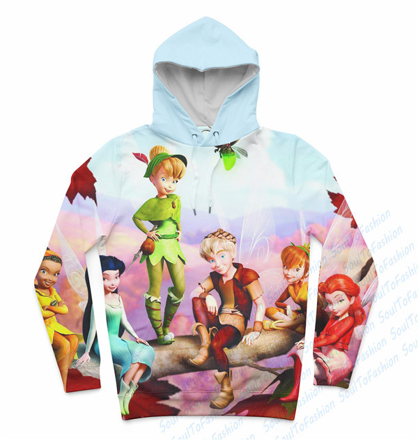 Real USA size Tinkerbell 3D Sublimation Print  Hoody/Hoodie  OEM  Custom made Clothing