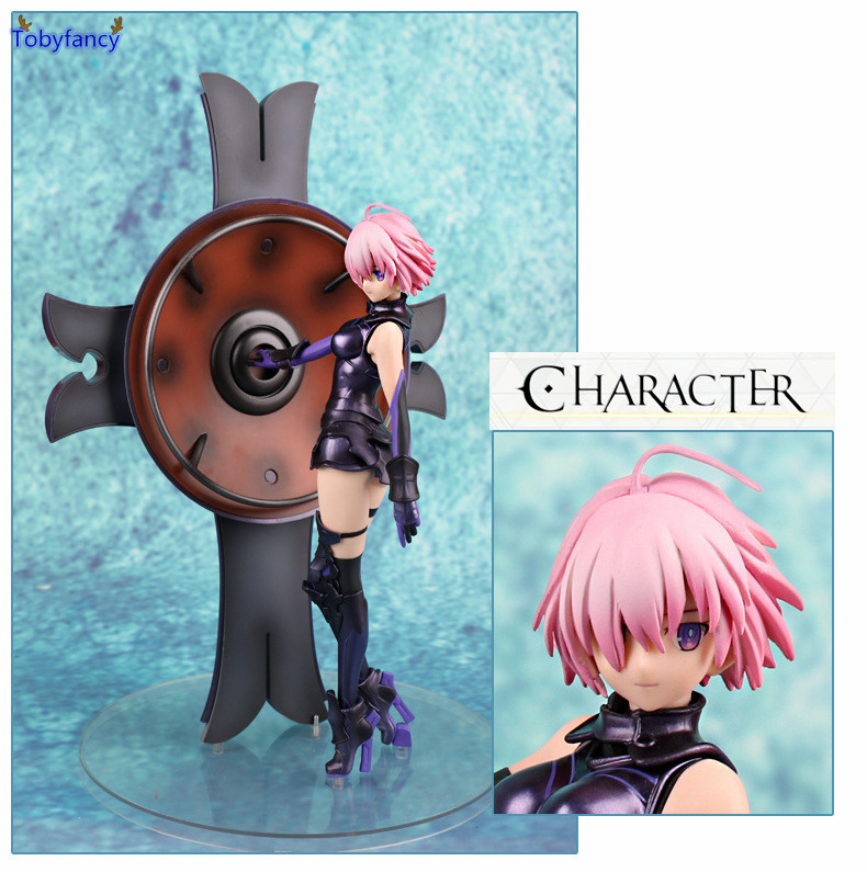 Tobyfancy Fate/Grand Order Matthew Kyrielite Action Figure Shielder Mash Kyrielight Figure PVC Figure Toy Brinquedos Anime 32CM le fate топ
