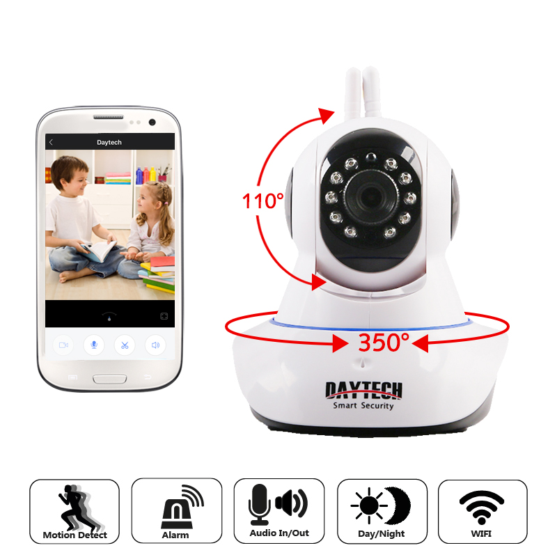 Daytech IP Camera WiFi CCTV 1080P Security Home Surveillance Camera Wireless Network Monitor Two Way Audio Day Night Vision P2P sacam 720p wifi wireless ip camera with two way audio ir cut night vision video onvif p2p network webcam for home security alarm