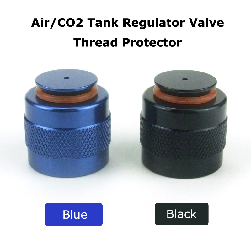 New Paintball Air Gun Airsoft PCP Air Rifle HP Air/CO2 Tank Regulator Valve Aluminum Thread Protector