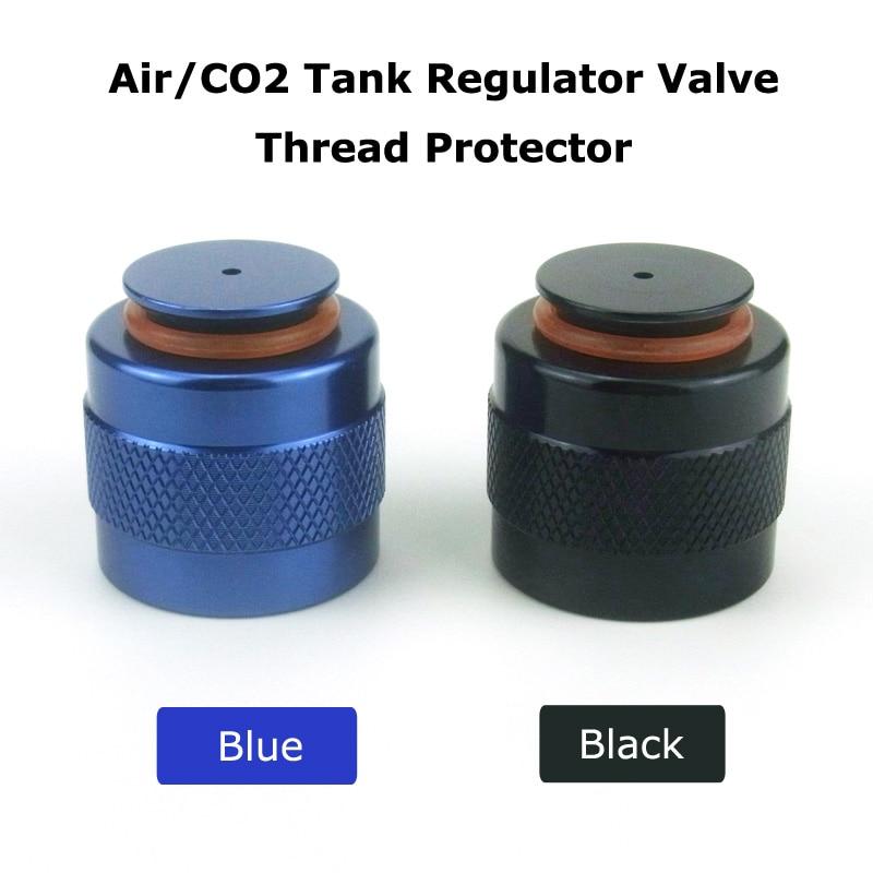 New Paintball Air Gun Airsoft PCP Air Rifle HP Air/CO2 Tank Regulator Valve Aluminum Thread Protector