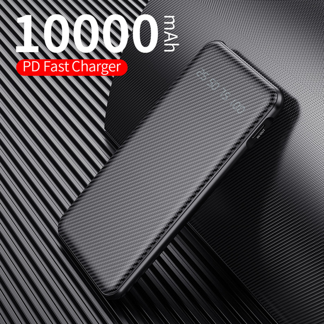 Rock 10000mah 18w PD 3.0 QC 3.0 USB C Quick Charge Power Bank 9v 2A PD3.0 QC3.0 Fast Charging Type C Powerbank Portable Charger 2