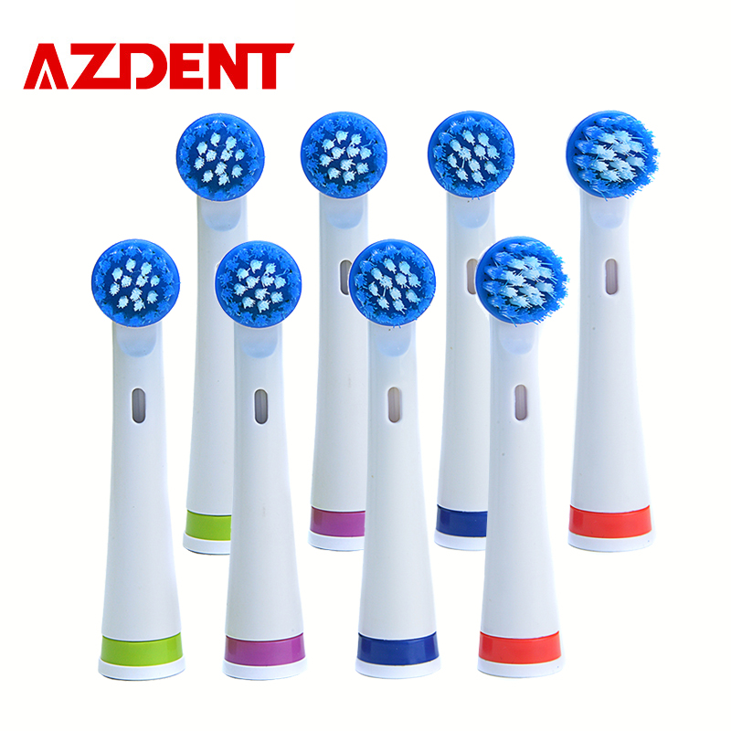 AZDENT 8 Pieces/Lot Electric Toothbrush Heads Suit For Top Selling azdent Tooth Brush AZ-OC2 Toothbrushes Head Teeth Whitening Зубная щётка