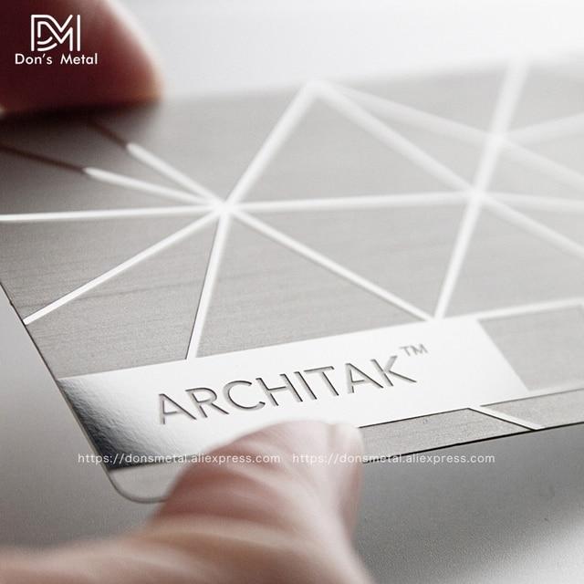 金属名刺金属会員カードデザインミラー金属名刺鏡面カードカスタムステンレス鋼 busine