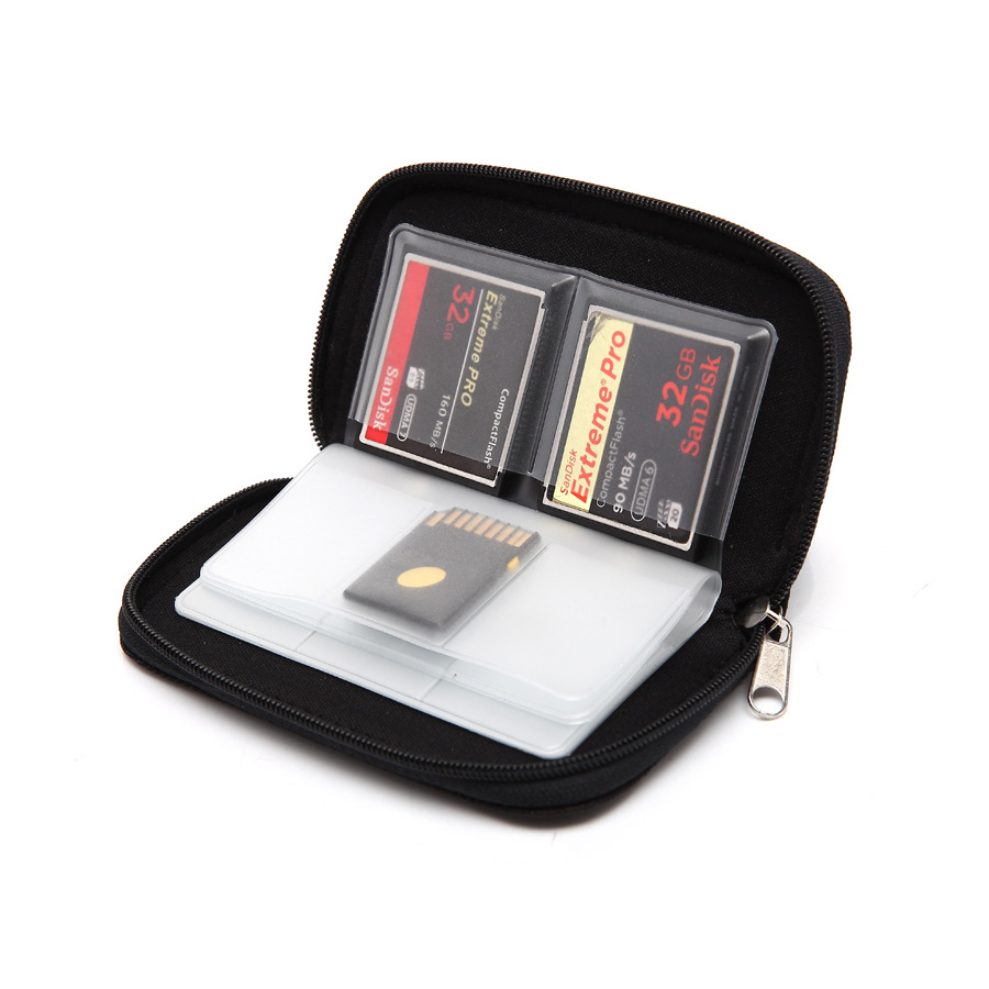 Memory Card Case Fits Up To 44x SD, SDHC, Micro SD, Mini SD And 4x CF - Holder With 22 Slots 8 Pages For Storage And Travel