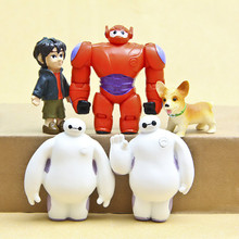 2016 Hot Sale Lovely Baymax PVC Action Figure Cute Big Hero PVC Cartoon Collections Toys High Quality Best Gift for Kids