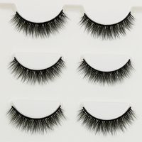 YOKPN 3 pairs Manual Short   False     Eyelashes   3D multi-layer Cross Messy Natural Eye Lashes Daily Dating Makeup Fake   Eyelashes