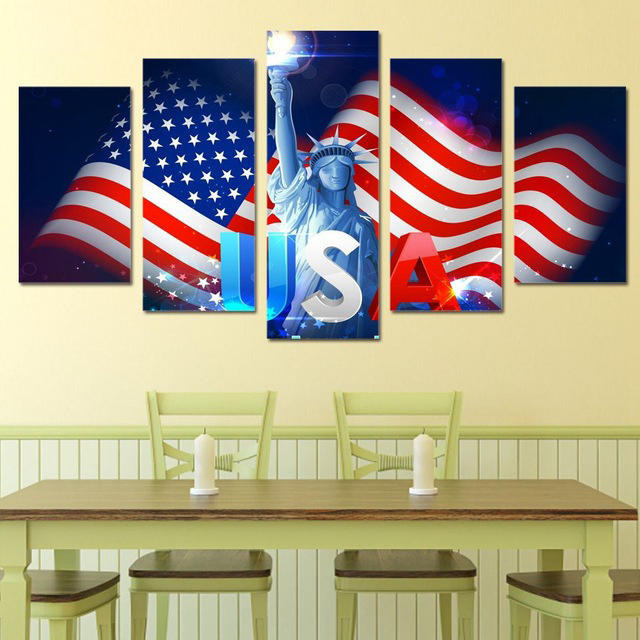 HDPrint The American Flag Canvas Art Painting Modern Home decor ...