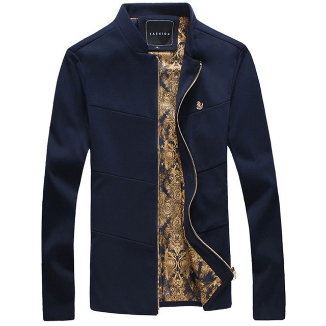Plus size new fashion brand jacket men trend stand collar Designer clothing for men online sales