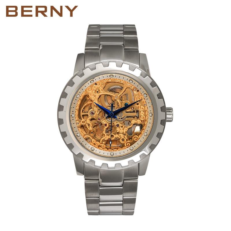 Berny horloge mannen mechanische en automatische herenhorloges luxe - Dameshorloges - Foto 5