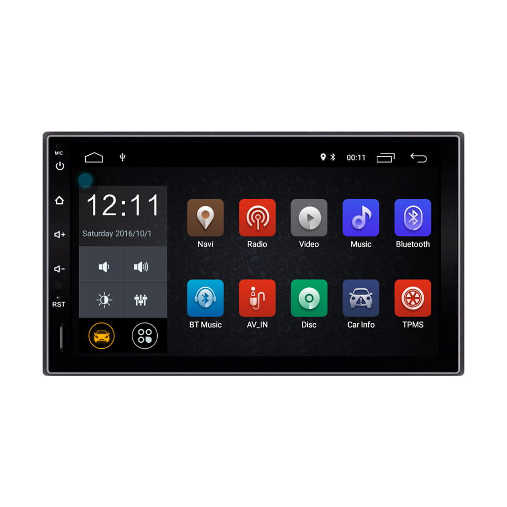Free Shipping Android 6.0 system 2 DIN 7 inch TFT Capacitive Touch Screen Car GPS Navigation Radio Bluetooth Player