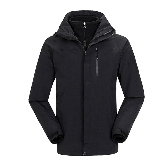 Mens Windstopper Waterproof Detachable Fleece Liner Coat Winter Hiking Camping Outdoor Jacket Men Anti-wear Jaqueta Masculina joobox brand 2017 winter jacket men warm thick coat hat detachable cotton parkas mens hooded outwear jaqueta masculina invernos