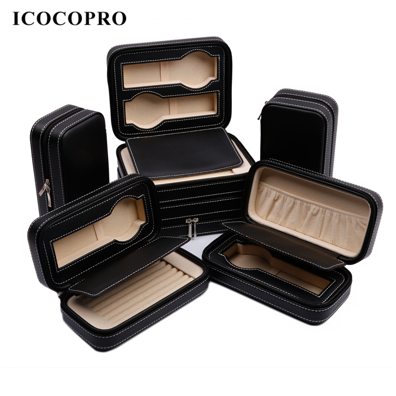 ICOCOPRO Jewelry Storage Box Watch Gift Box Women Men Necklace Ring