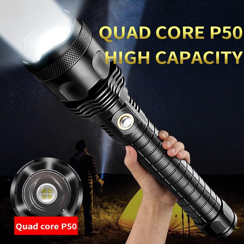 P70 lampe de poche éblouissante télescopique focalisation rechargeable super lumineux longue portée 5000 lampe xénon extérieur maison